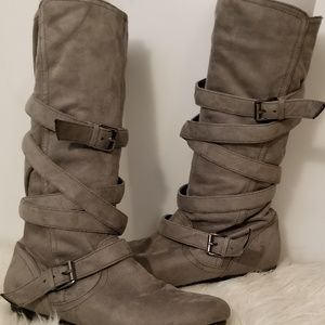 Report Faux Knee Boots